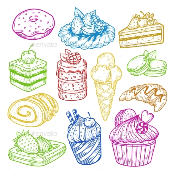Pastry and Bakery Cake - Food Objects