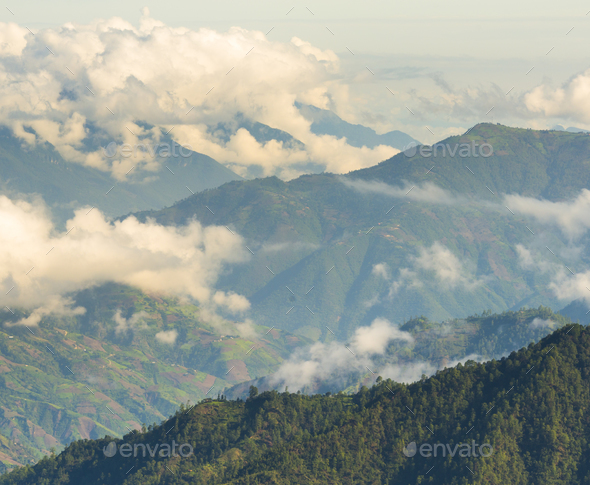 Guatemala Mountain Landscape - Stock Photo - Images