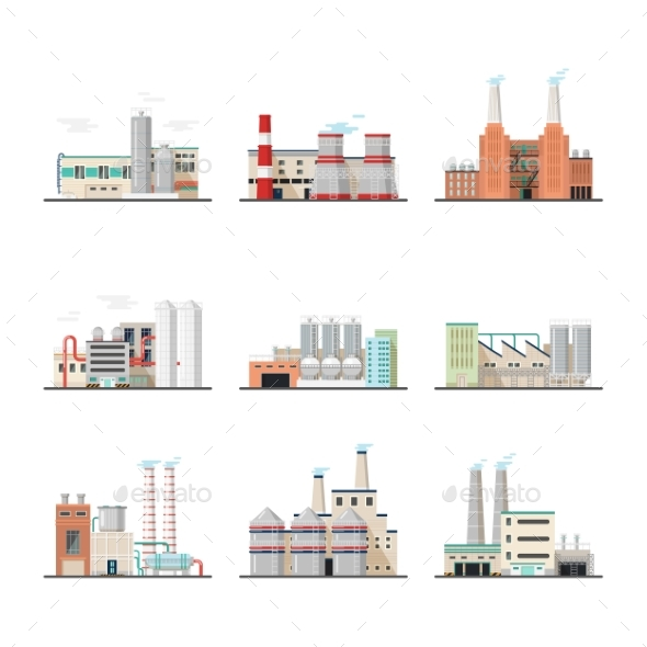 Buildings of Industry Plants and Factory - Industries Business