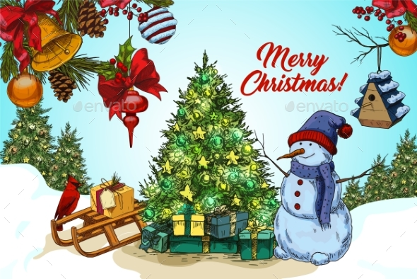 2018 Happy New Year and Christmas Card - Christmas Seasons/Holidays