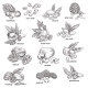 Nuts with Nutshell Isolated Sketches - GraphicRiver Item for Sale