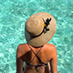Girl in Bikini Sitting Above Incredible Blue Tropical Water in the Maldives - VideoHive Item for Sale