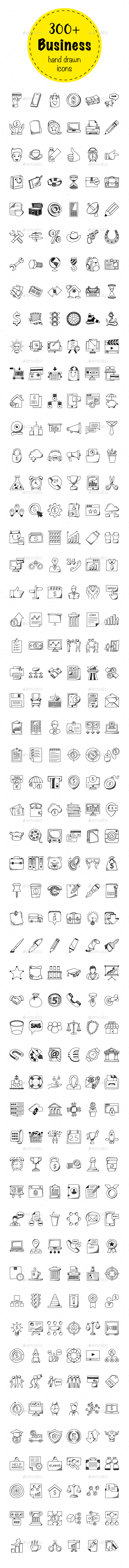 324 Business Doodle Icons - Icons
