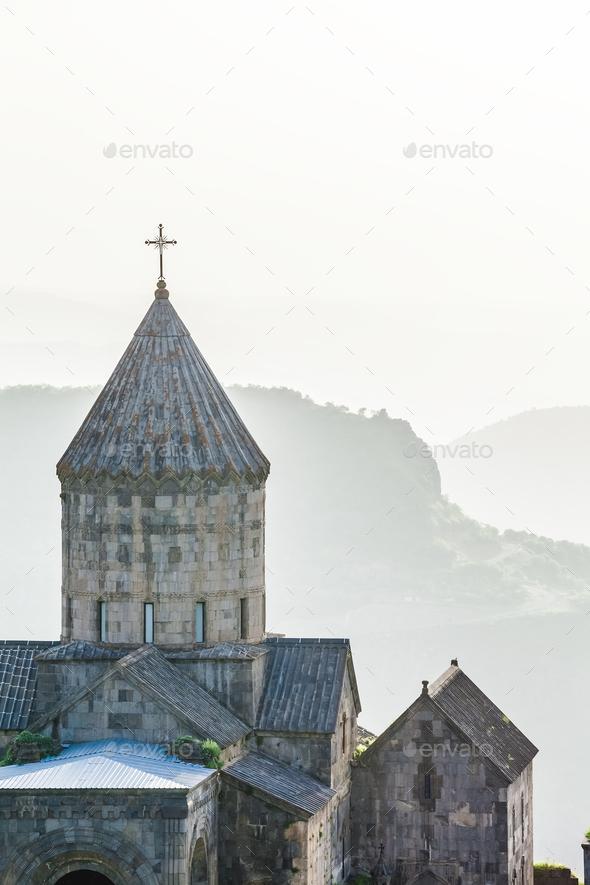 Ancient monastery. Tatev. Armenia - Stock Photo - Images