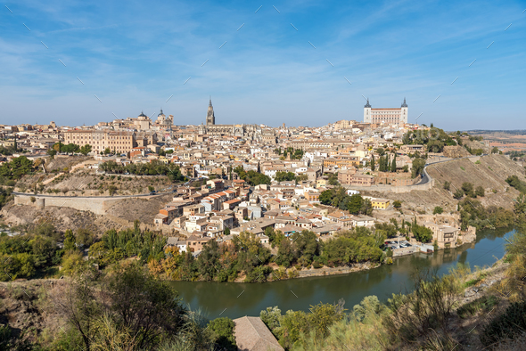 View of the old city of Toledo in Spain - Stock Photo - Images