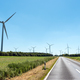 Wind power plants and a country road  - PhotoDune Item for Sale