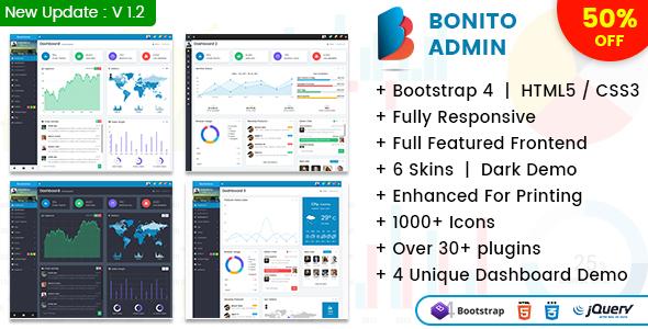 Bonito - Responsive Bootstrap 4 Admin Template Dashboard