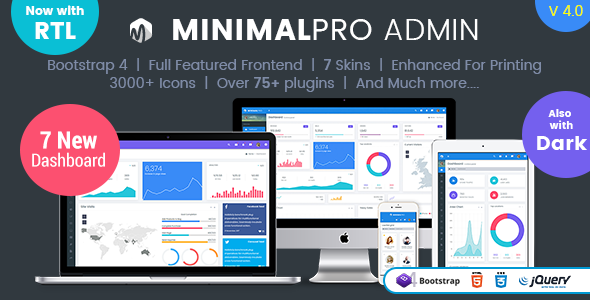 Minimal Pro - Responsive Bootstrap 4 Admin Dashboard Template & WebApp Template