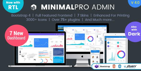 Minimal Pro - Responsive Bootstrap 4 Admin Dashboard Template & WebApp Template - Admin Templates Site Templates