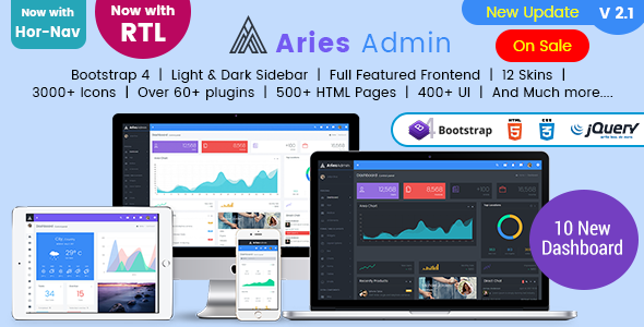 Aries Admin - Responsive Bootstrap 4 Admin, Dashboard & WebApp Template - Admin Templates Site Templates
