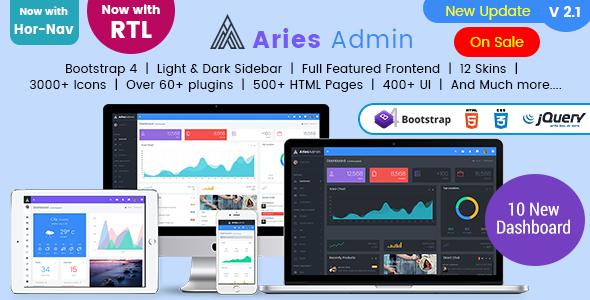 Image of Aries Admin - Responsive Bootstrap 4 Admin, Dashboard & WebApp Template