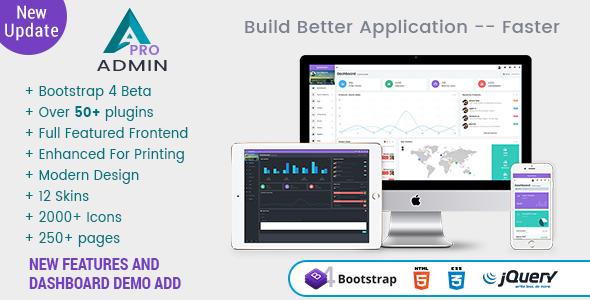 A Pro - Responsive Bootstrap 4 Admin Template, Dashboard & WebApp Template