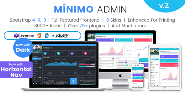 Minimo Pro - Responsive Bootstrap 4 Bootstrap 3 Admin Dashboard WebApp Template - Admin Templates Site Templates