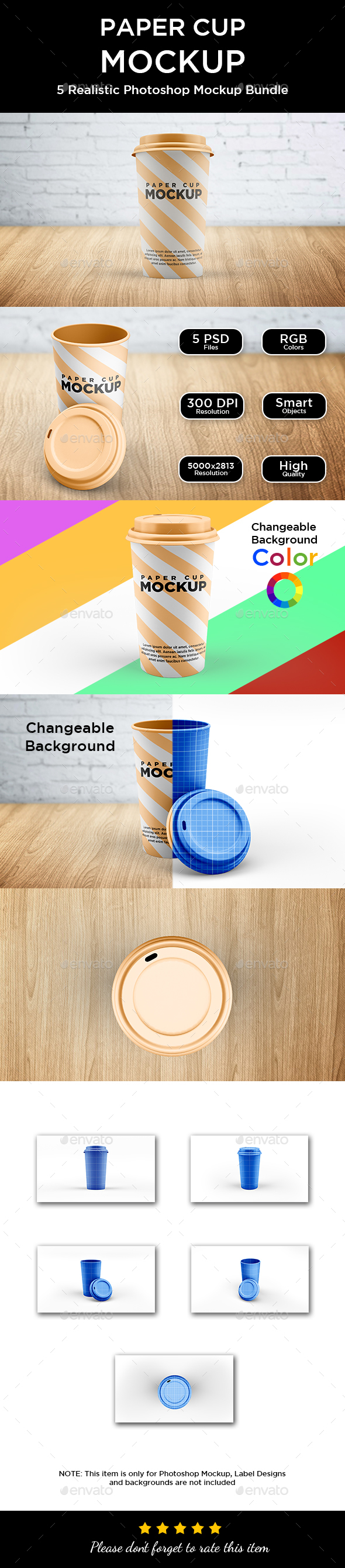 Paper Cup Mockup - Food and Drink Packaging