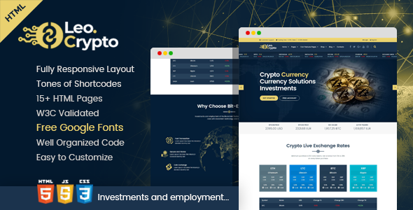 Image of LEO - Bitcoin And Crypto Currency HTML Template