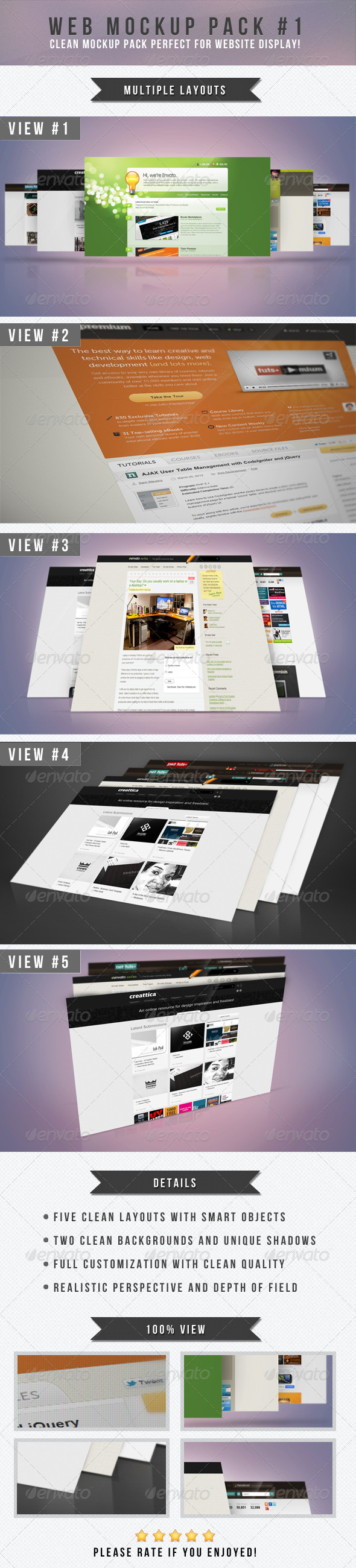 Web Mockup Pack #1 - Website Displays