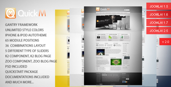Free Download QuickM - Template for Joomla 1.5 Nulled Latest Version