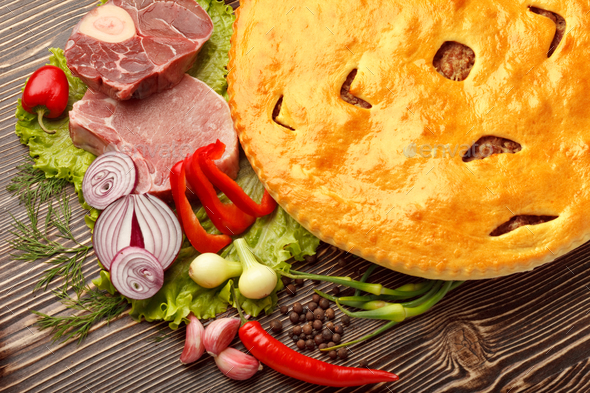 Ossetian pie. - Stock Photo - Images