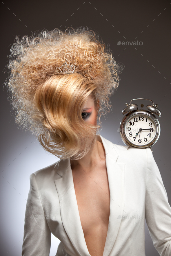 Time is on my shoulders. - Stock Photo - Images
