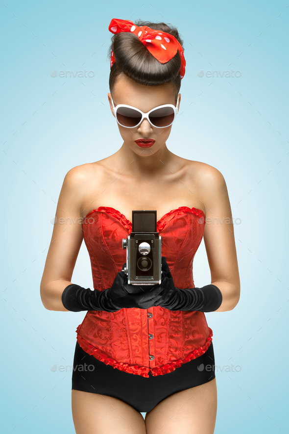 The lust of vintage photographer. - Stock Photo - Images