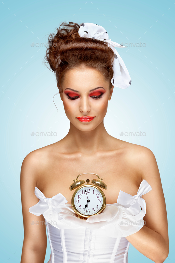 She is always late. - Stock Photo - Images