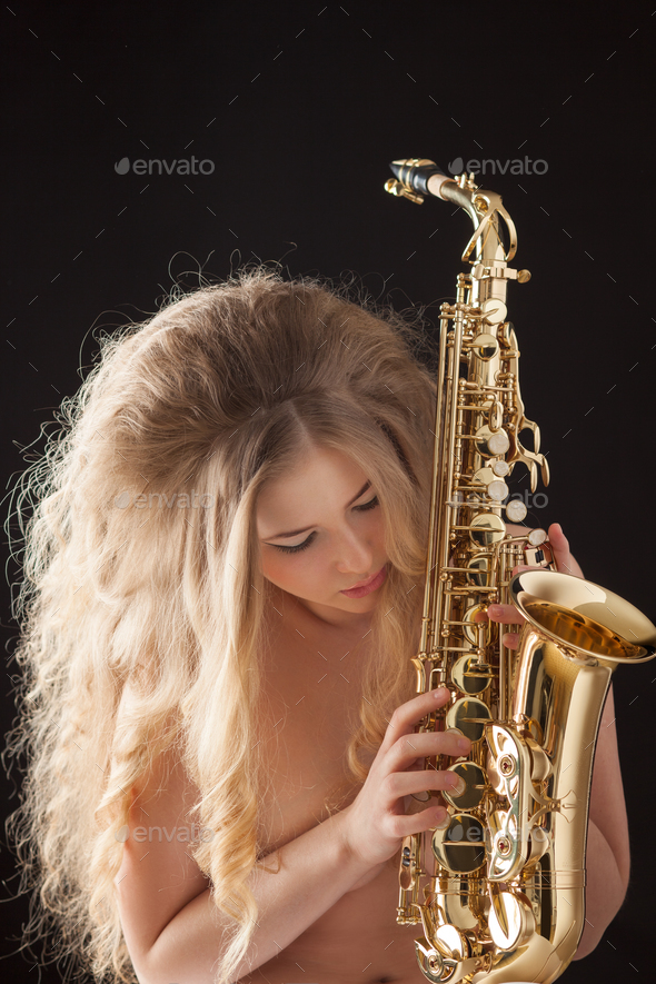 Playing sexy jazz. - Stock Photo - Images