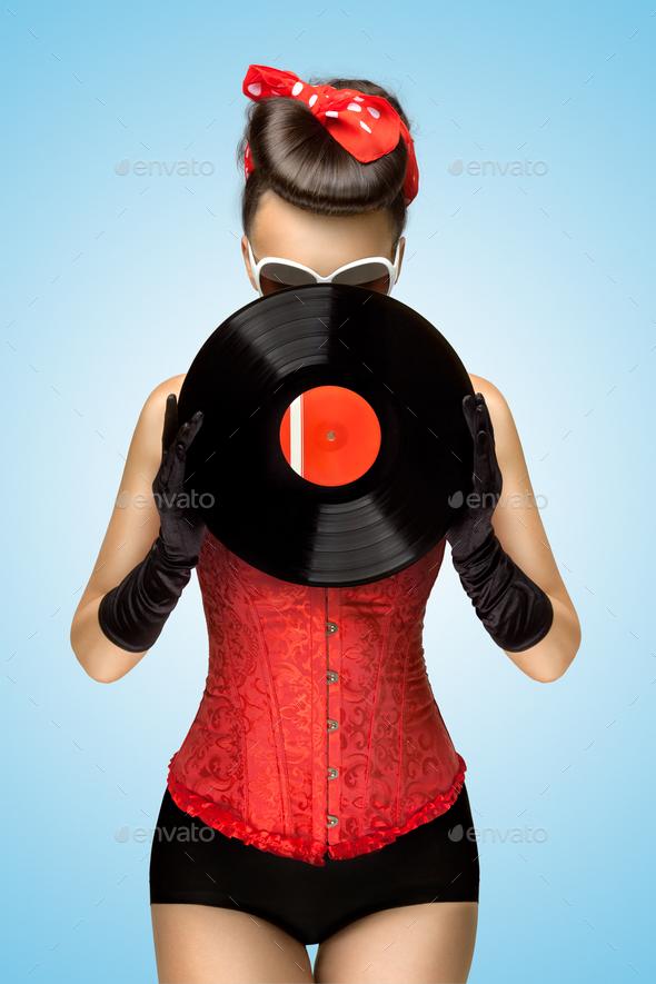 Behind vinyl. - Stock Photo - Images