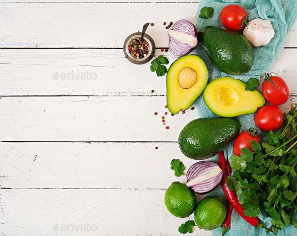 Guacamole sauce ingredients - Stock Photo - Images