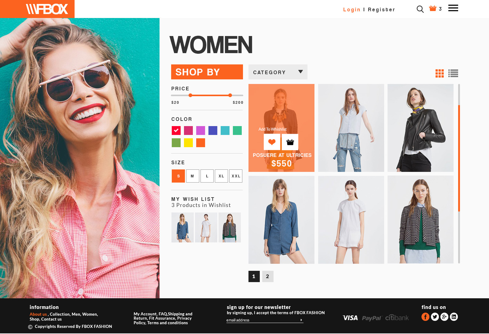 Fbox Fashion E Commerce Psd Web Template By Manthanmehta60