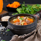 Thick soup with beef, pearl barley, pumpkin and celery. Dietary menu. - PhotoDune Item for Sale