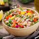 White bean cannellini salad. Vegan salad. Diet menu - PhotoDune Item for Sale