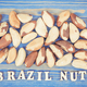 Vintage photo, Inscription brazil nuts and fruits containing natural minerals and vitamin - PhotoDune Item for Sale