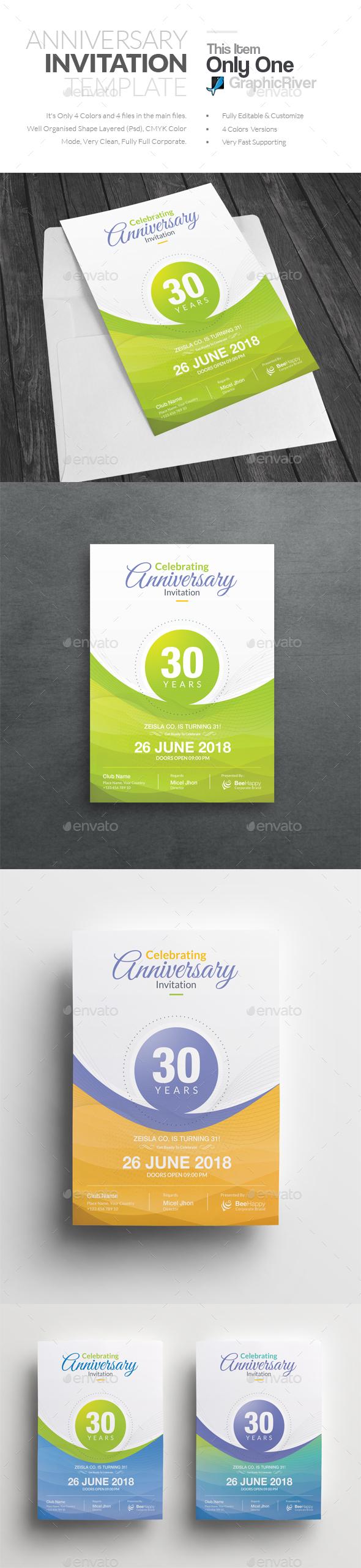 Anniversary Invitation - Anniversary Greeting Cards