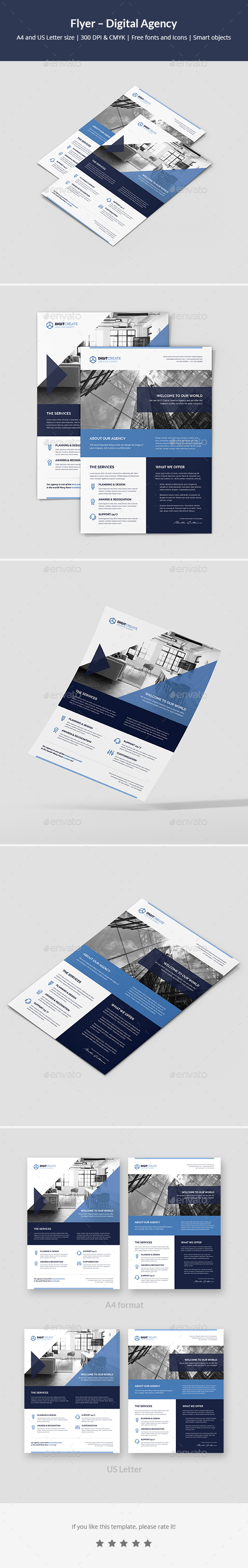 Flyer – Digital Agency - Corporate Flyers