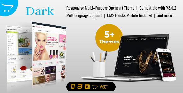 Dark Minimal - Multipurpose Responsive OpenCart 3 Themes