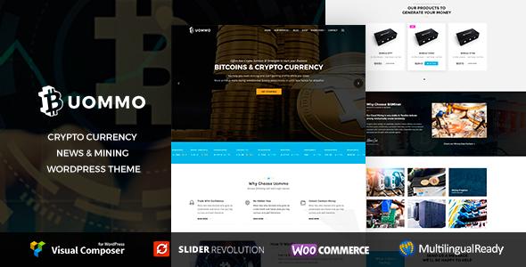 Uommo - Cryptocurrency,  News & Mining  WordPress Theme