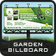 Garden Landscape Billboard Template - GraphicRiver Item for Sale