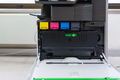 copier with four toner cartridges with open cover - PhotoDune Item for Sale