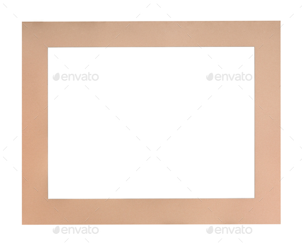 flat peach colored passe-partout for picture frame - Stock Photo - Images