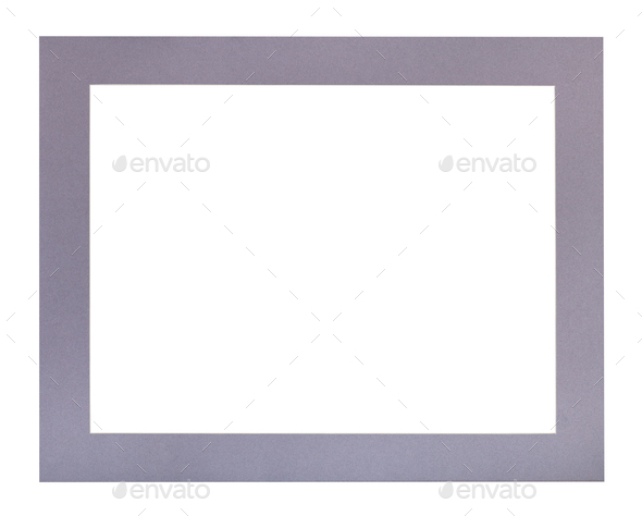 wide flat violet passe-partout for picture frame - Stock Photo - Images