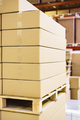 stack of boxes and cartons on wooden pallet - PhotoDune Item for Sale