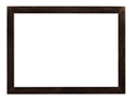 modern flat dark brown wooden picture frame - PhotoDune Item for Sale