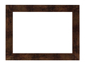 flat brown painted wide wooden picture frame - PhotoDune Item for Sale