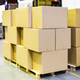 packaged boxes and cartons on wooden pallets - PhotoDune Item for Sale