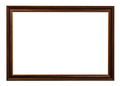 classic dark brown painted wooden picture frame - PhotoDune Item for Sale