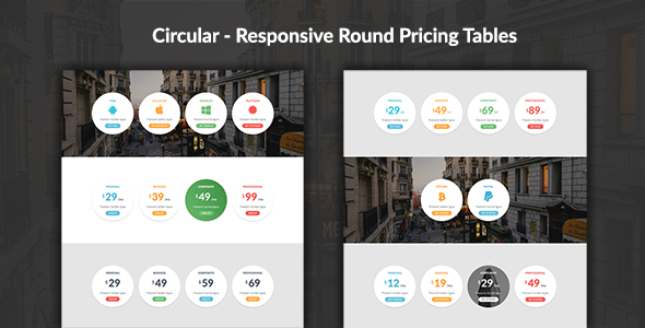 Circular - Responsive Round Pricing Tables - CodeCanyon Item for Sale