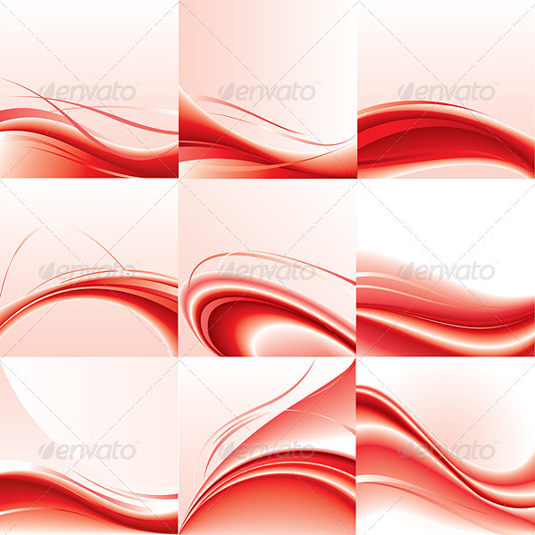 Abstract vector background set - Abstract Conceptual