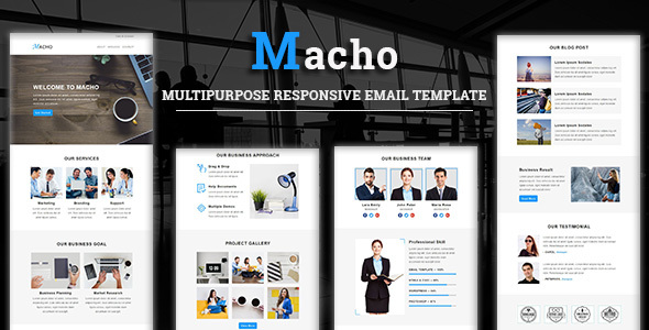 Macho - Multipurpose Responsive Email Template