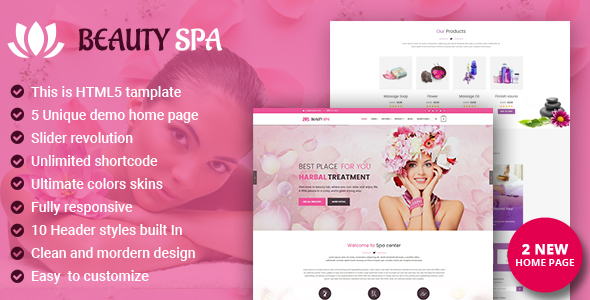 Spa - Beauty Salon and Spa HTML Template