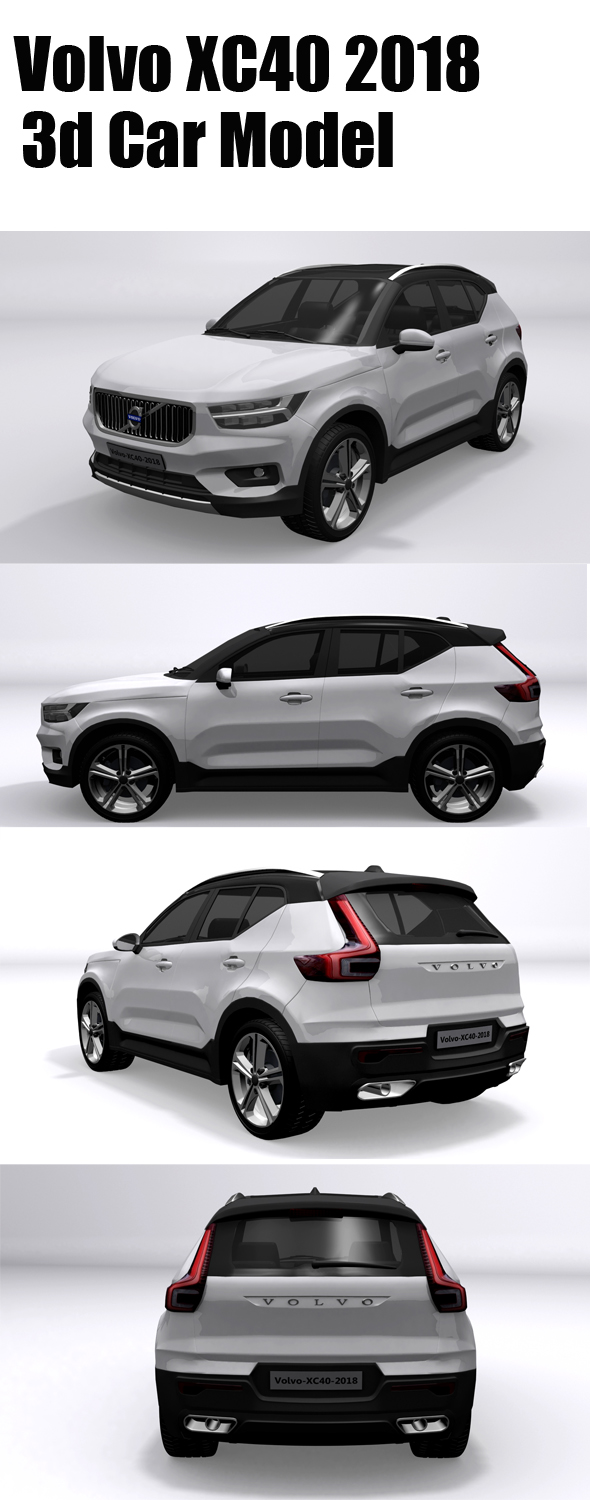 Volvo XC40 2018 - 3DOcean Item for Sale